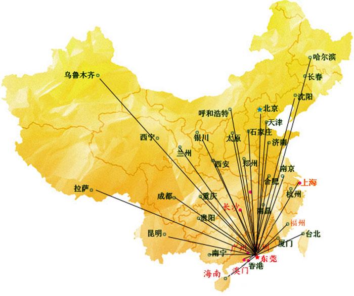 台亚制冷中国服务网点